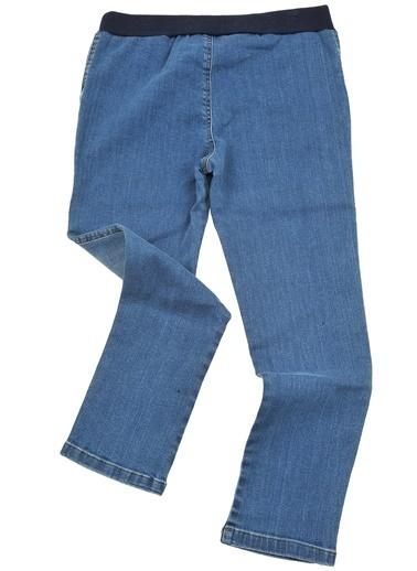Mininio Mavi Büyük Cepli Baðcıklı Kot Pantolon (5-14yaş) Mavi Büyük Cepli Baðcıklı Kot Pantolon (5-14yaş) Mavi